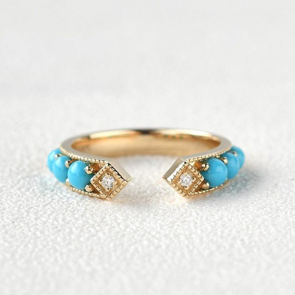 Blue Turquoise Ancient Egyptian Band - Front