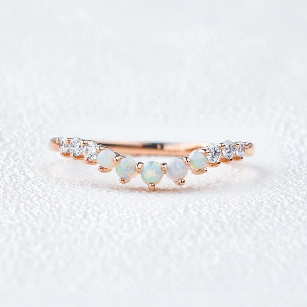 Round Opal Classic Tiara Band - Front